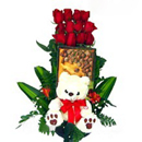 TEDDYBEAR ROSES AND CHOCOLATES