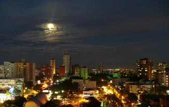Beautiful night view of Barranquilla City